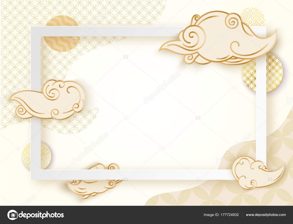 Paper art frame with japan wave pattern brochure business card paper art frame with japan wave pattern brochure business card template or background in stopboris