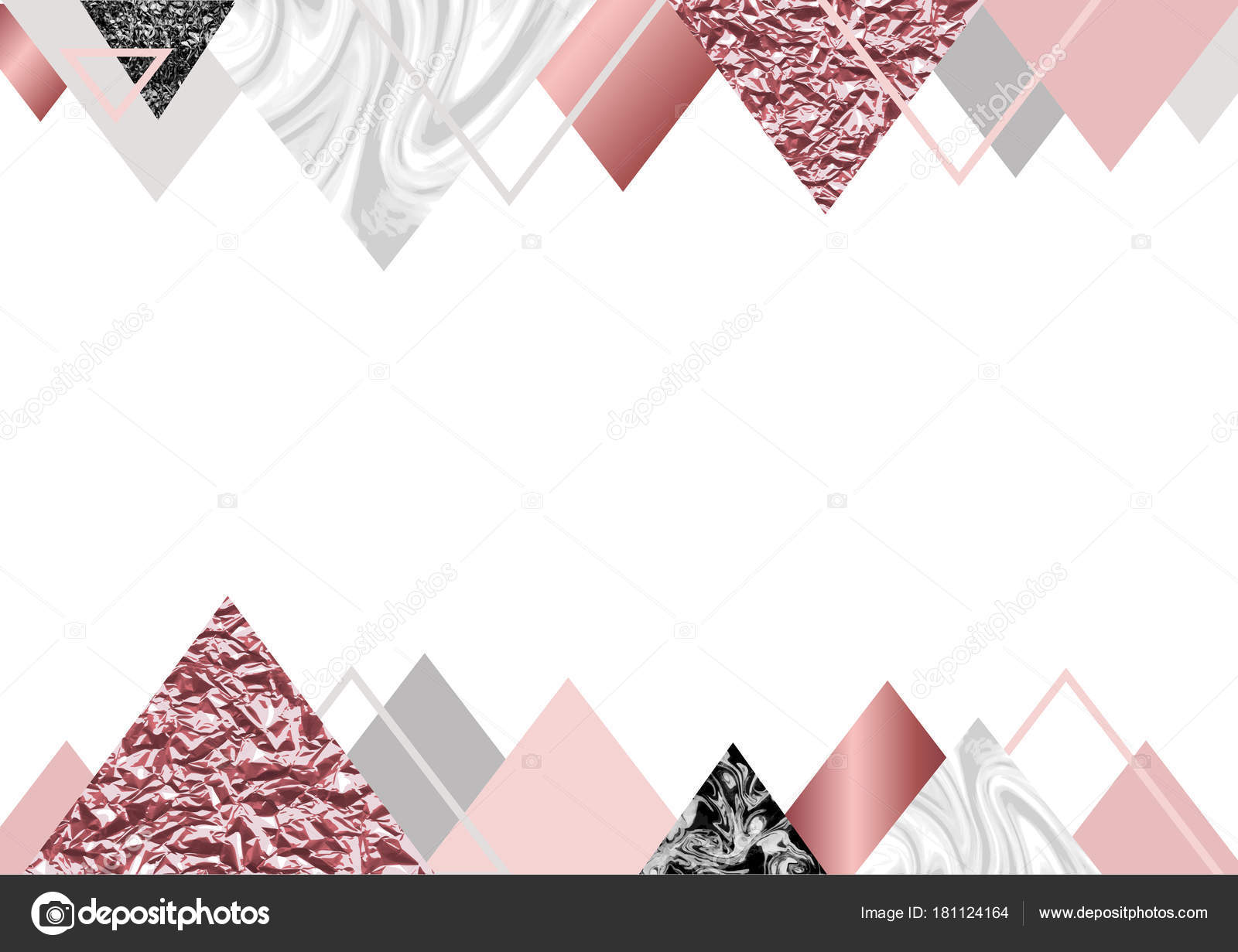 marble rose background in trendy minimalist geometric style with