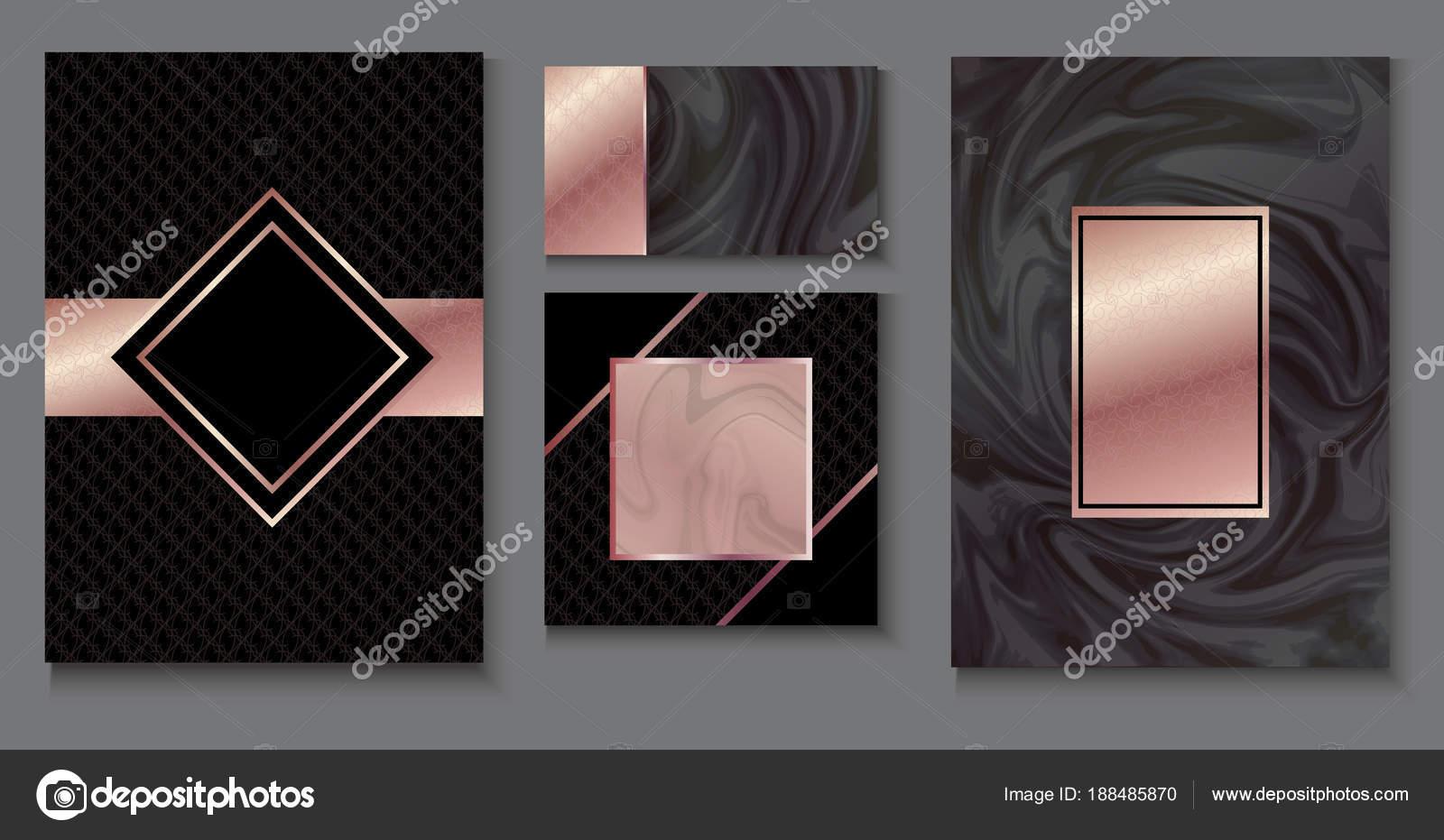 Brochure Ou Vip Jeu De Conception D Emballage Modele De Luxe