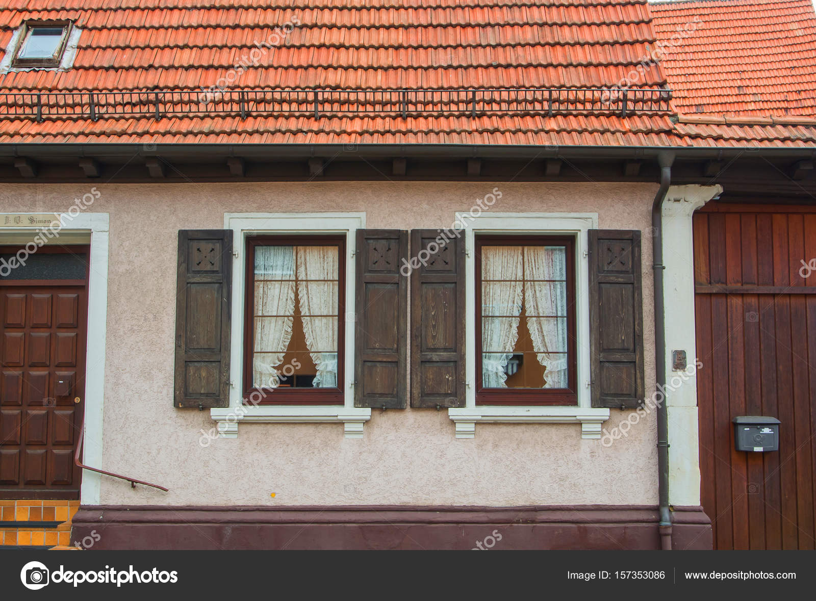 WALLDORF, GERMANY - JUNE 4, 2017: A close-up of german village ...