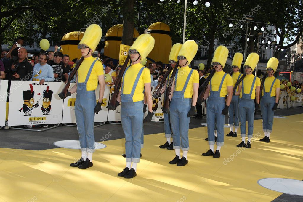Minions characters at Minions World premiere