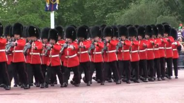 Queens Guards marching during parade