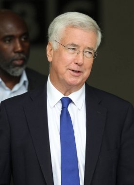 Michael Fallon at the BBC Studios