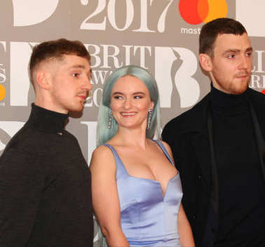 London, UK - 22, Feb, 2017: Clean Bandit attend The BRIT Awards at The O2