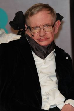 London, UK, 8th February 2015: Stephen Hawking attends the EE British Academy Film Awards at The Royal Opera House  in London  SimonJames/Alamy Live News