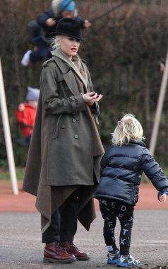 Gwen Stefani , Gavin Rossdale and children Kingston and Zuma walking with Daisy Lowe in Primrose Hill, London, UK, 23/12/17