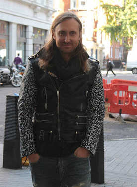 LONDON - OCT 10, 2014: David Guetta seen leaving BBC studios in London