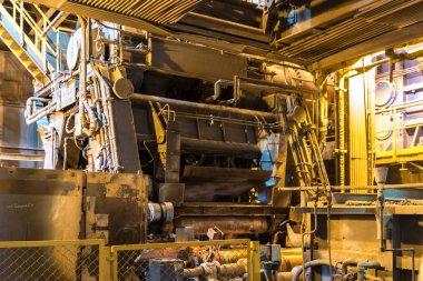Metalurji tesisi eritme dükkanında teknolojik donatım
