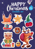 Photo Set of Christmas stickers