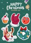 Photo Set of Christmas stickers
