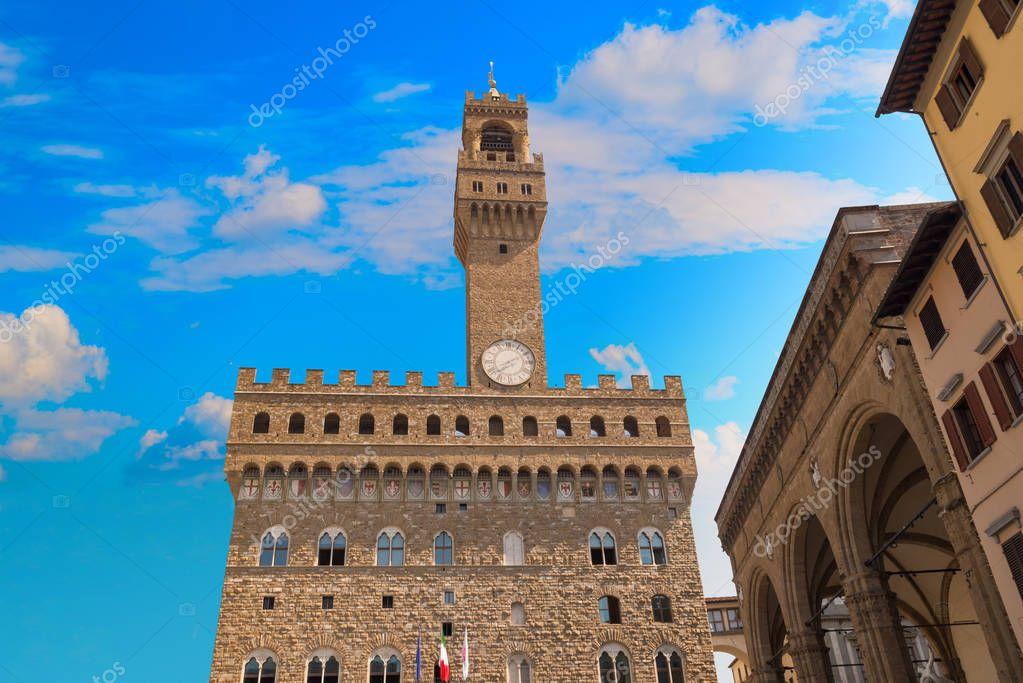 Palazzo Vecchio or  della Signoria in Florence, Italy.