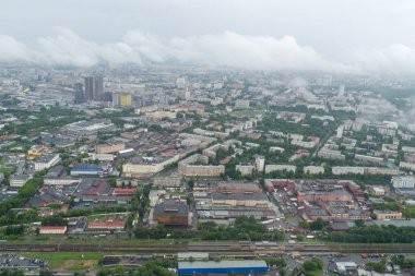 Moscow, Russia. View from a height of the city of Moscow.