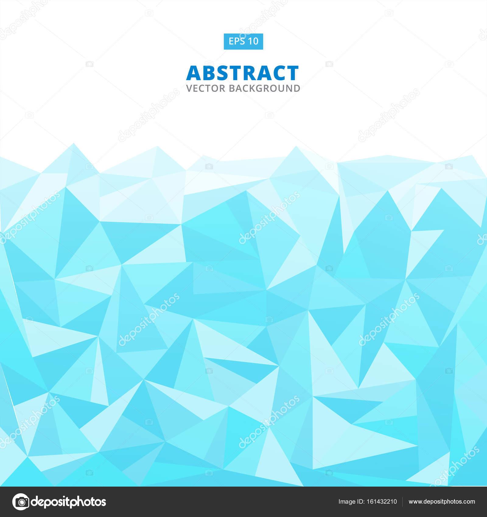 Astratto Geometrico Blu Turchese E Sfondo Bianco Basso Poli