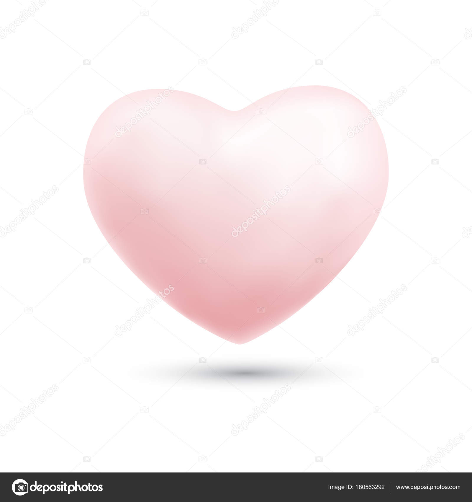 Happy valentines day with symbol 3d pink heart ballon isolated o happy valentines day with symbol 3d pink heart ballon isolated o stock vector biocorpaavc