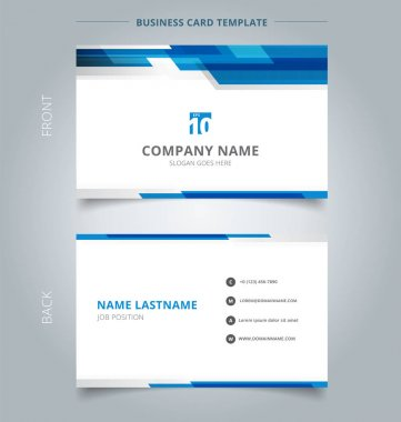 Creative business card and name card template technology geometr