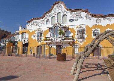 Architecture, modernist style, Can Negre, by Josep Maria Jujol Gibert. Sant Joan Despi,