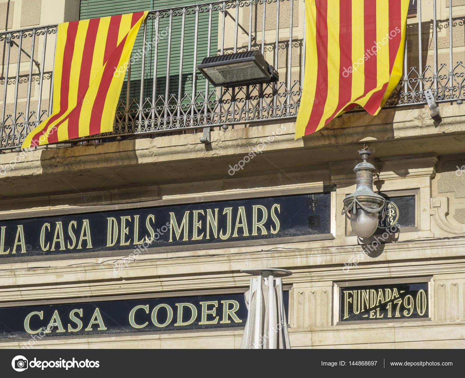 restaurant fassade la casa dels menjars-casa corder, katalanische