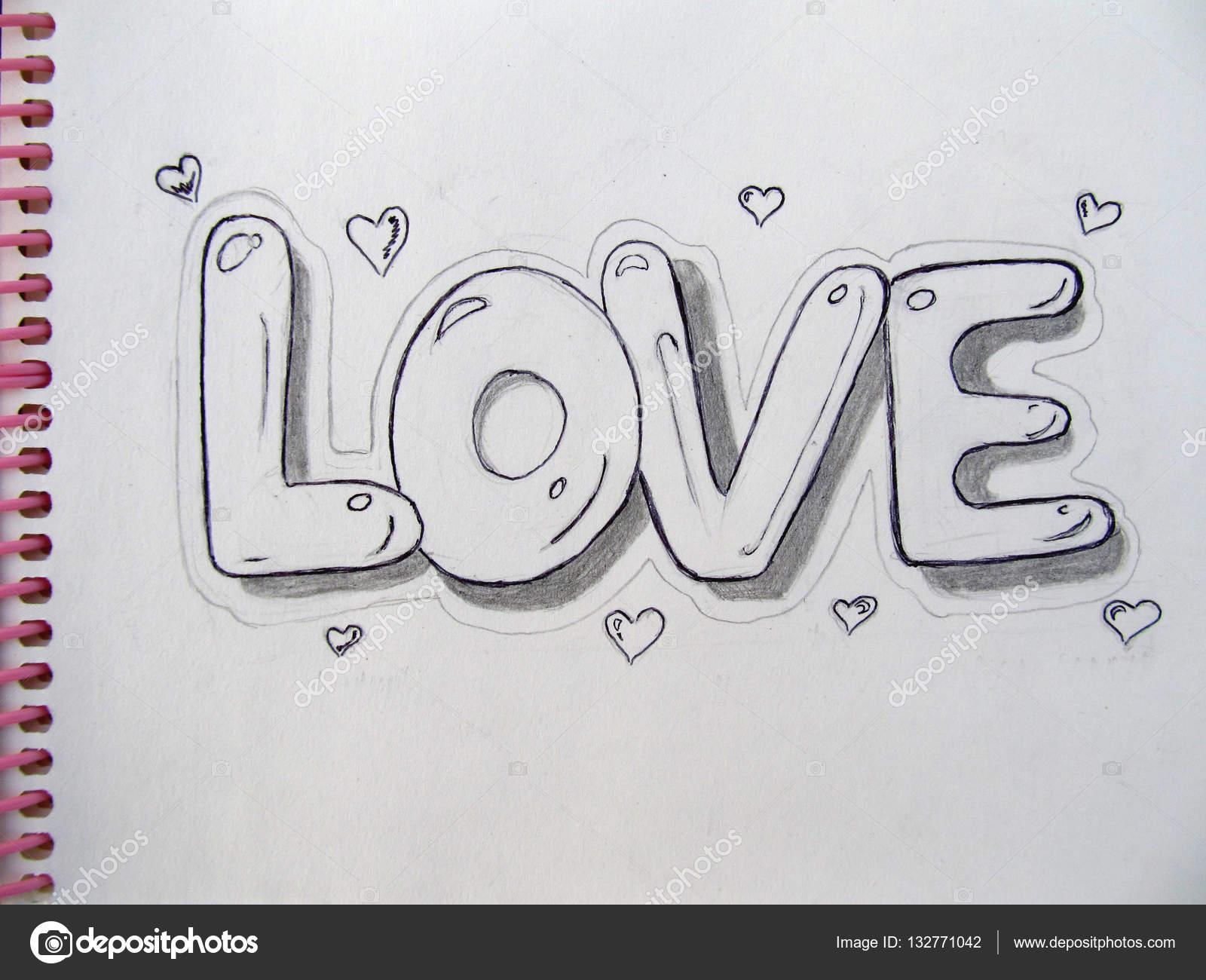Dibujos Dibujo A Lapiz De Amor Lapiz De Dibujo Sobre Papel Amor