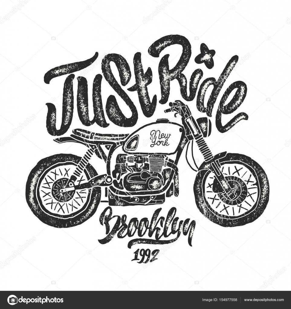 Ilustración Dibujo Moto Brooklyn T Camisa Impresiones
