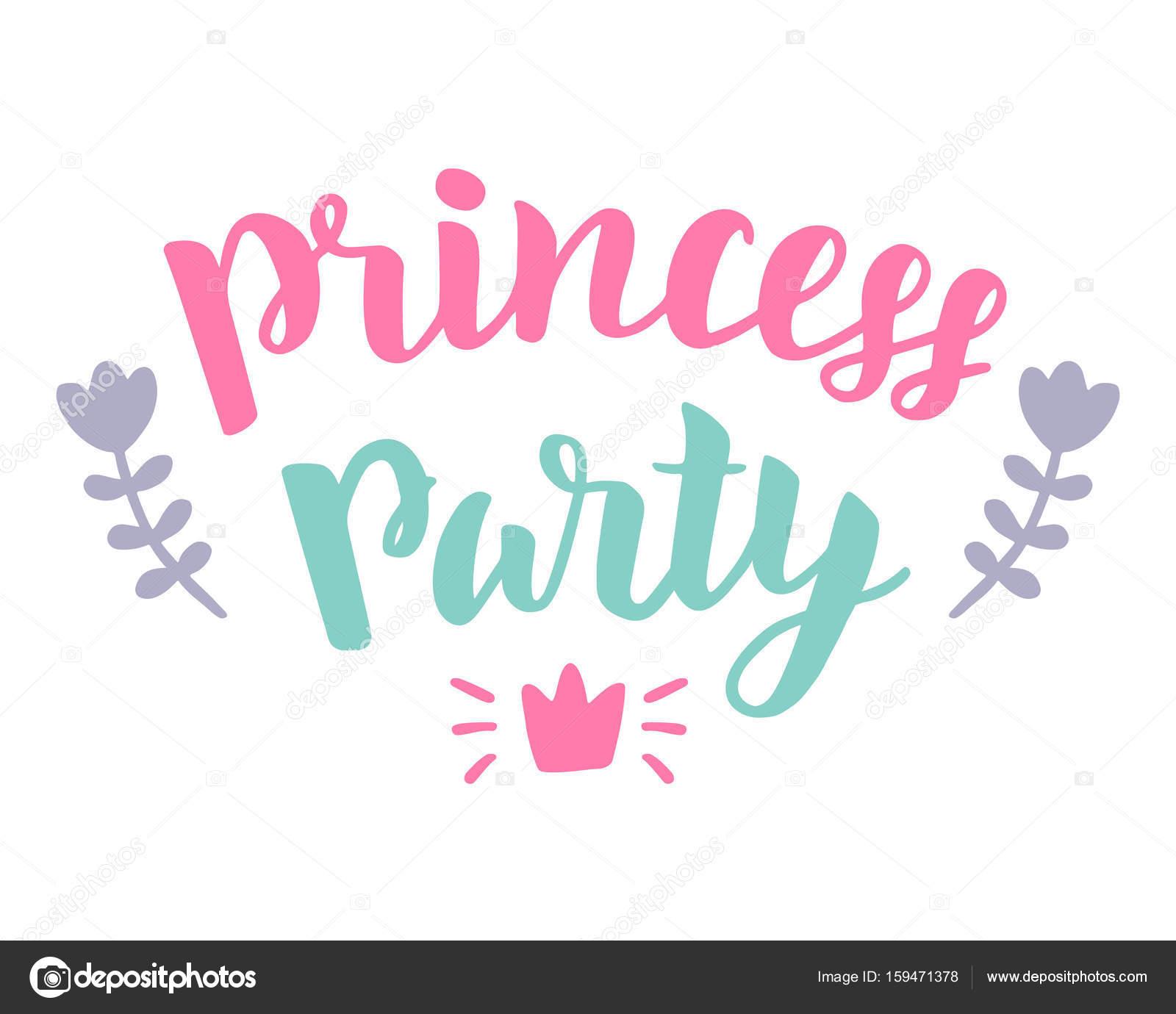 Fete De La Princesse Inscription Pour L Invitation La Main Affiche