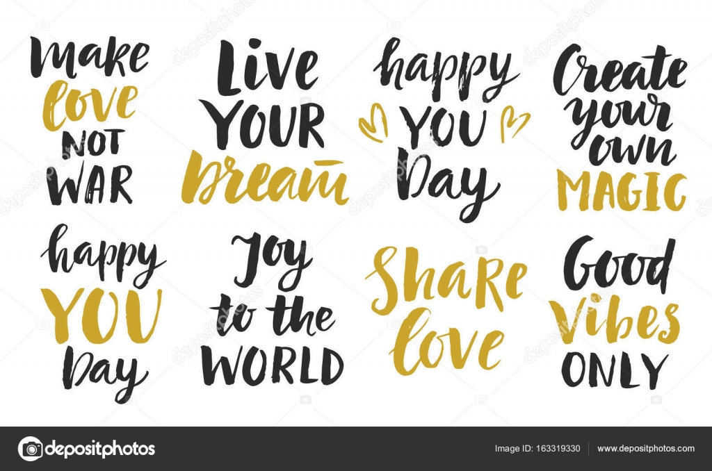 Trendy Inspirational Phrases Collection Stock Vector © Artrise Amazing Inspirational Phrases