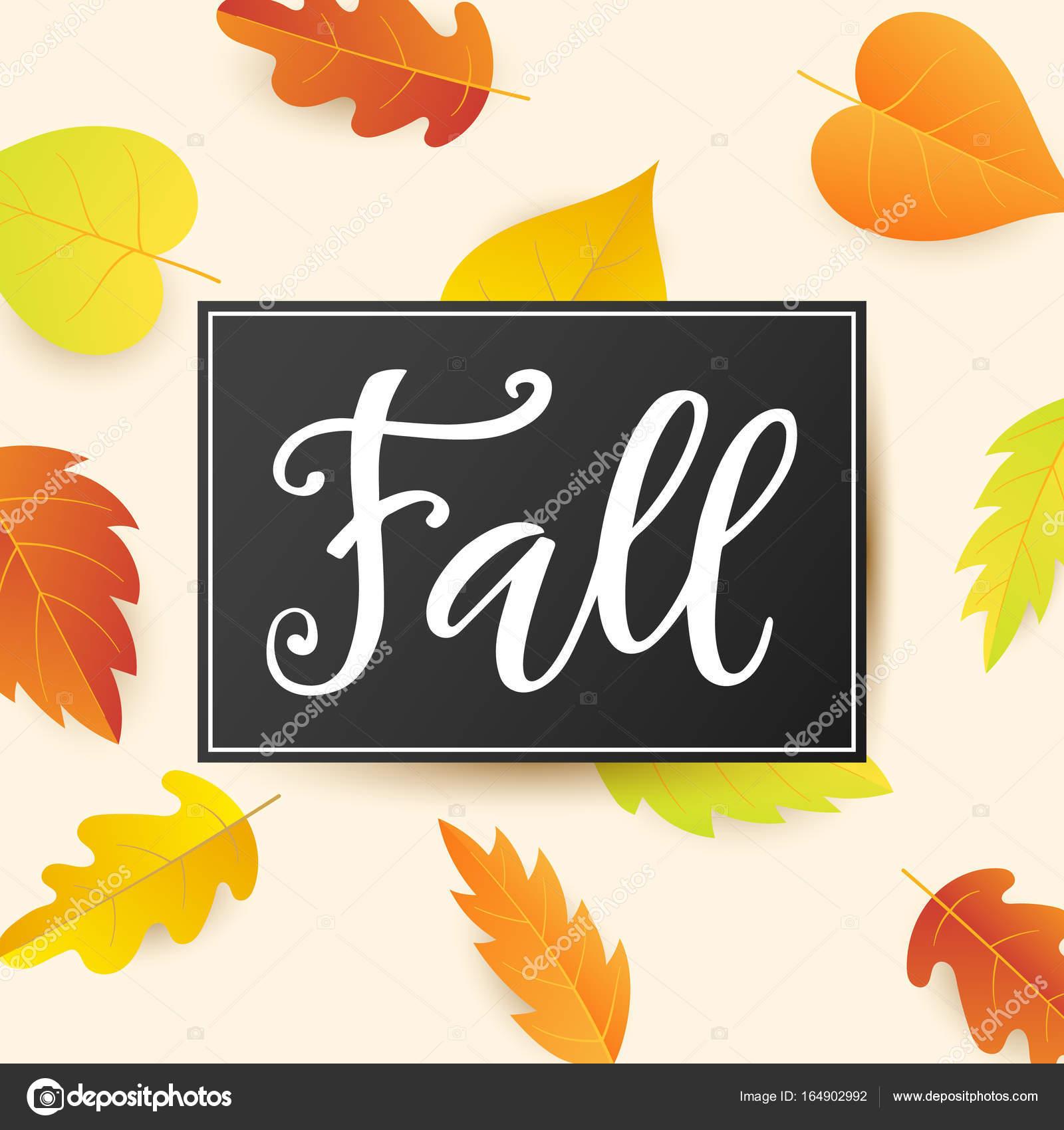 Herbst-Banner-Vorlage mit leuchtend bunten Herbst Blätter ...