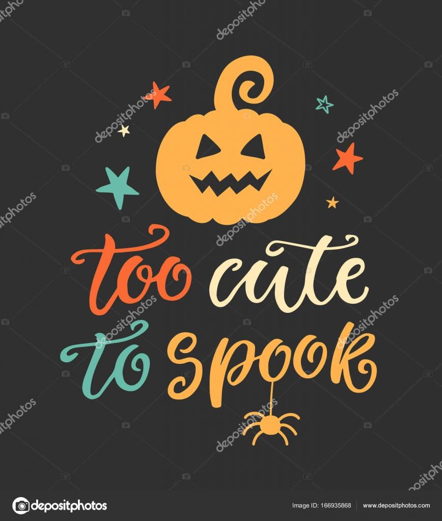 Zu süß, Spook. Halloween Party Poster mit handschriftlichen Tinte ...