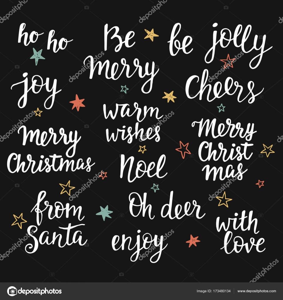 Vacanze Di Natale Frasi.Vacanze Di Natale Iscrizione Della Mano Impostata Raccolta
