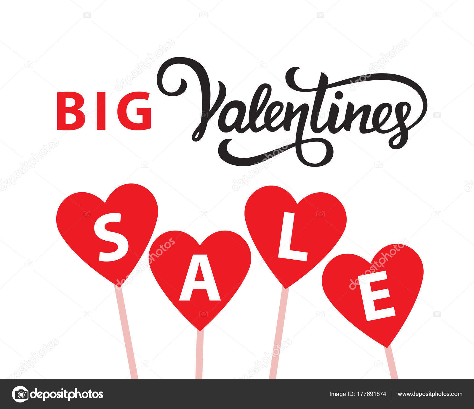 Valentines day sale banner template — Stock Vector © artrise #177691874