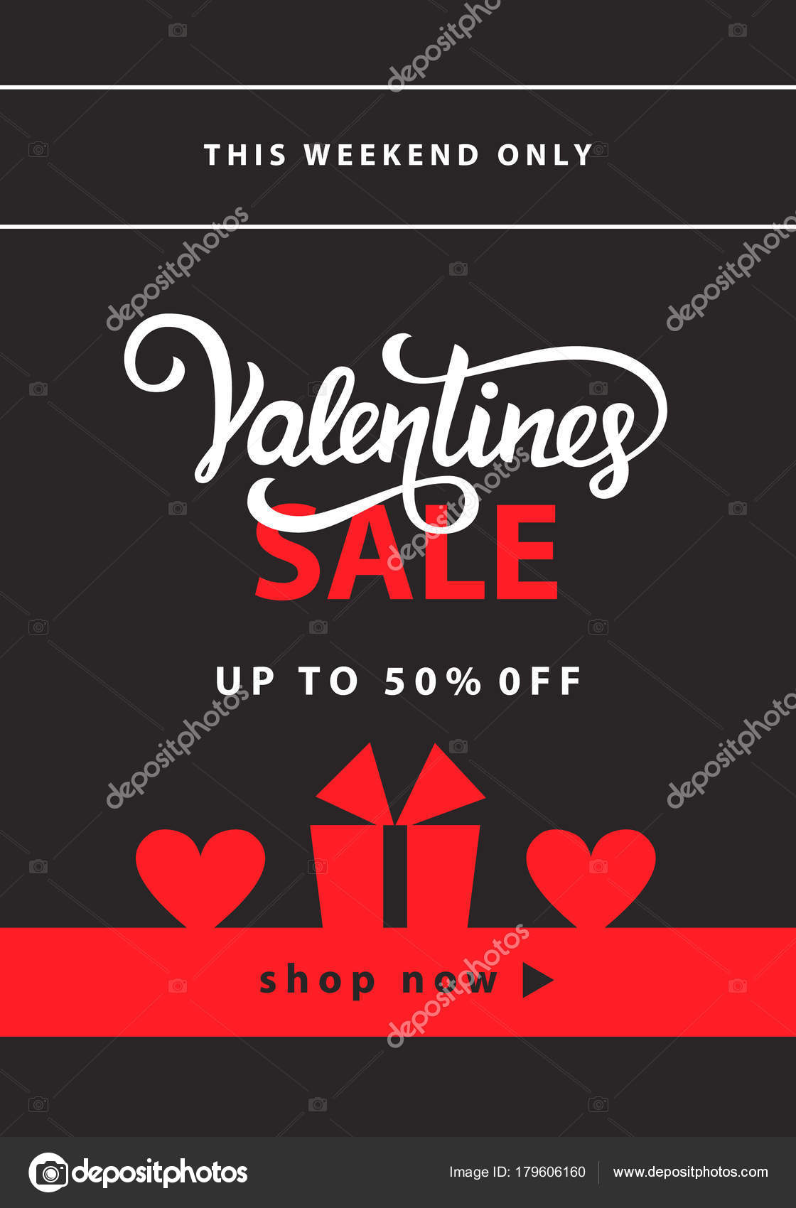 Valentines Day Sale Banner Template Stock Vector C Artrise 179606160