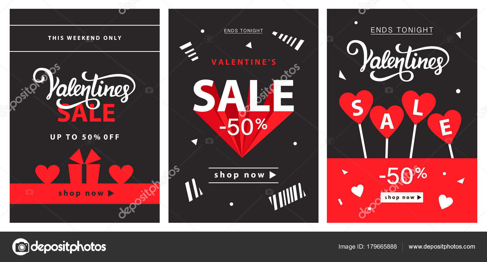 Valentines Day Sale Banner Template Stock Vector C Artrise 179665888