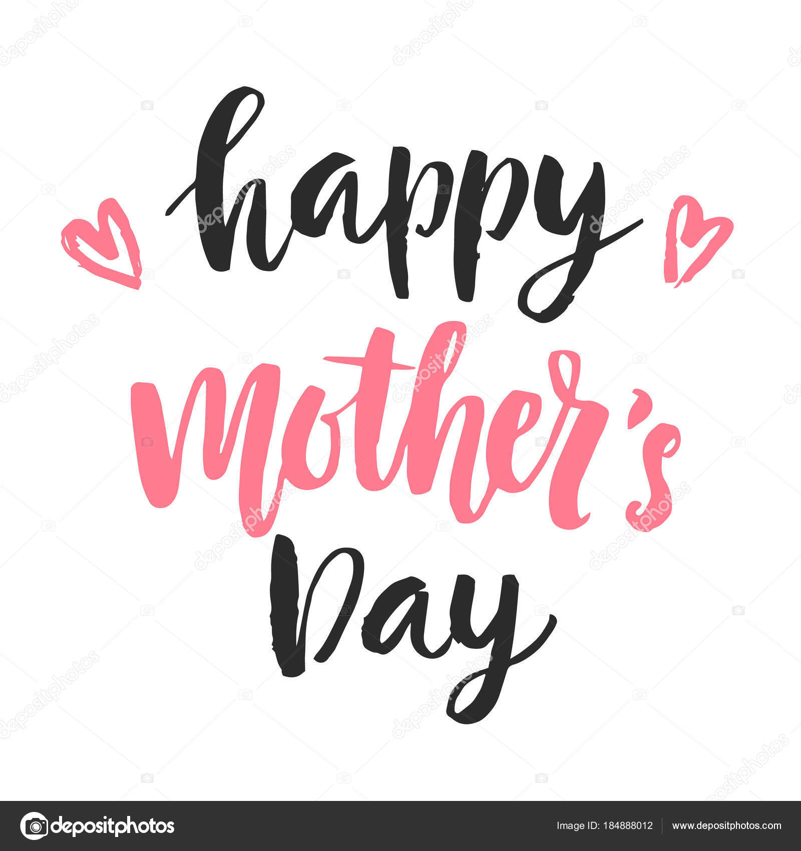 Glückliche Mütter-Tageskarte mit Hand gezeichnet moderne ...