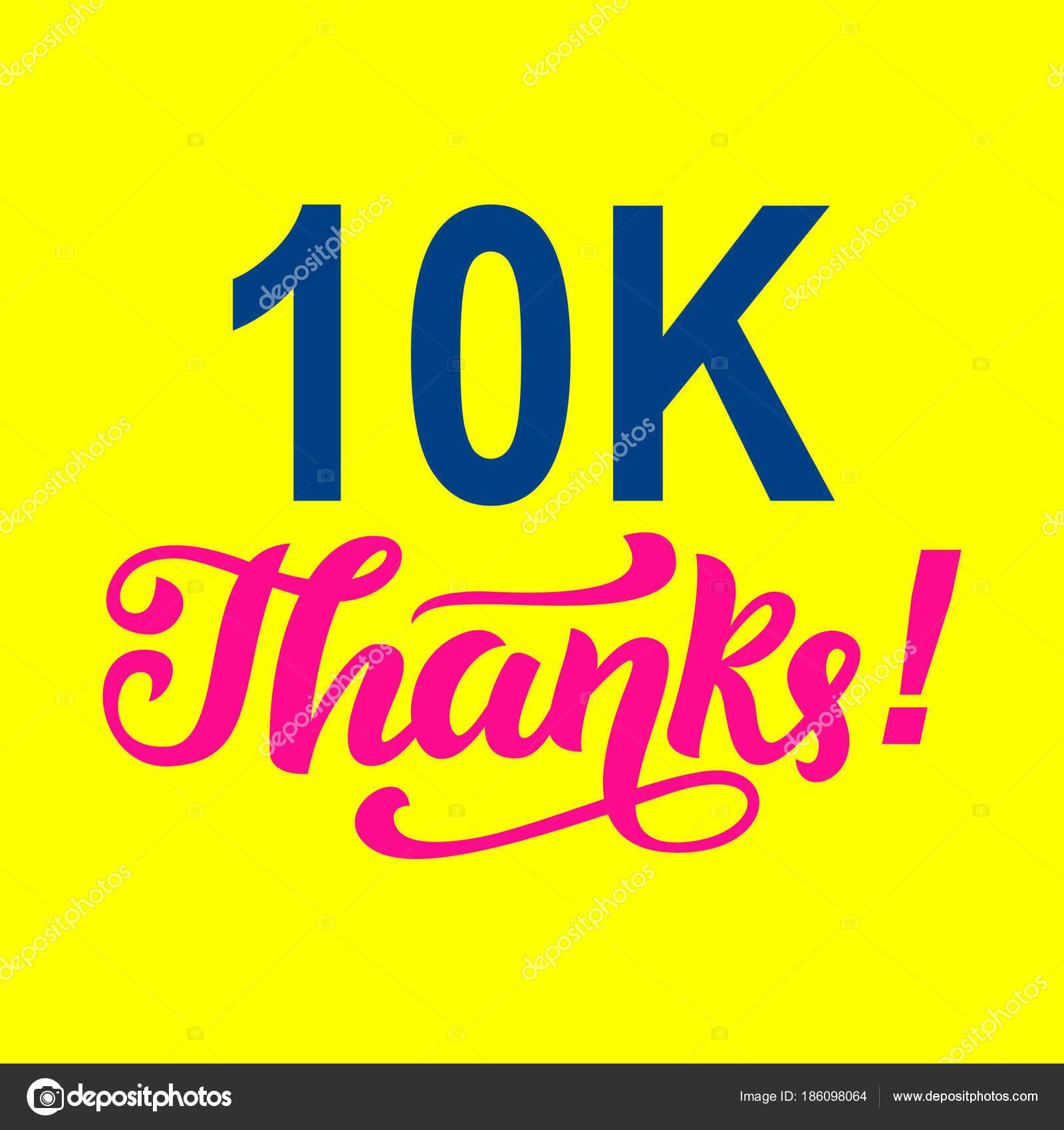 Extreem 10000 volgelingen bedankt. Felicitaties met de sjabloon &NF59