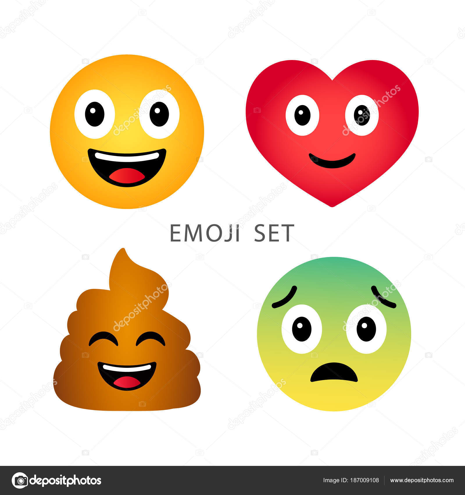 Emoji set cute funny cartoon emotional heart poop happy and sad cute funny cartoon emotional heart poop happy and sad emoticons buycottarizona Choice Image