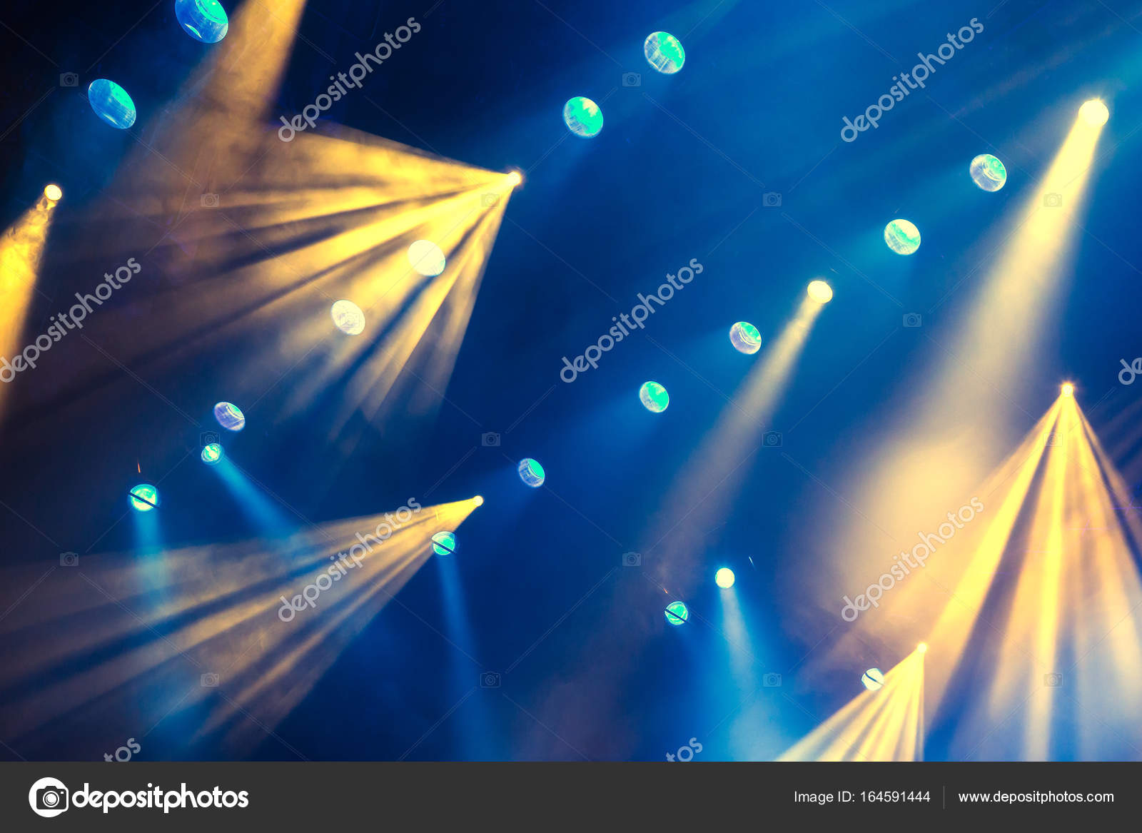 Lighting Equipment On The Stage Of Theatre During Performance Light Rays From