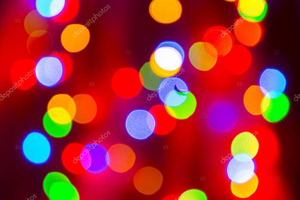 blurry christmas lights background stock photo - Blurry Christmas Lights