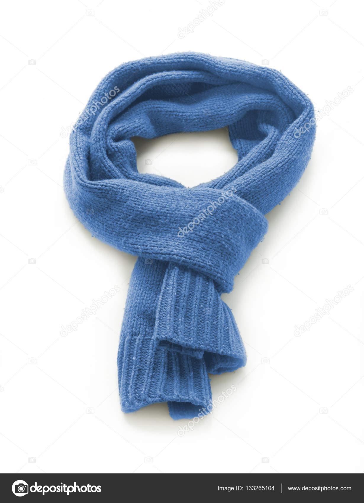 44734d41ee36c Light blue warm scarf on a white background — Stock Photo © gulakow ...