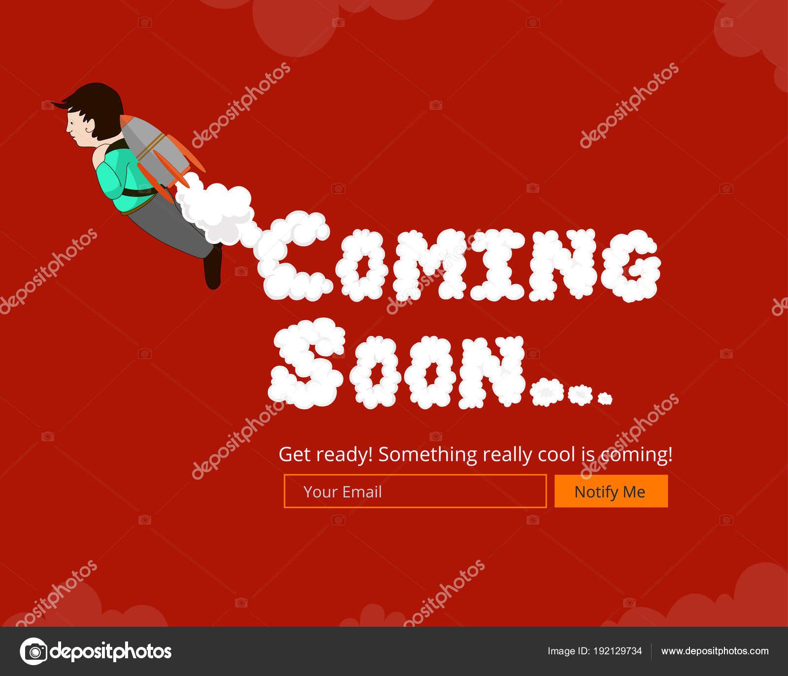 Muy Pronto Web Plantilla Viene Pronto Diseño Página Aterrizaje Muy ...