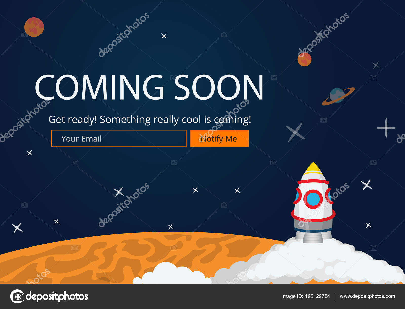 Coming Soon Website Template Coming Soon Landing Page Design Coming
