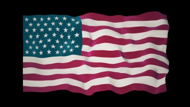 American Flag Slow Waving Matte