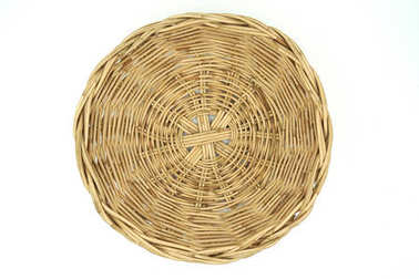 Top view Wicker baskets on white background of file with Clipping Path .