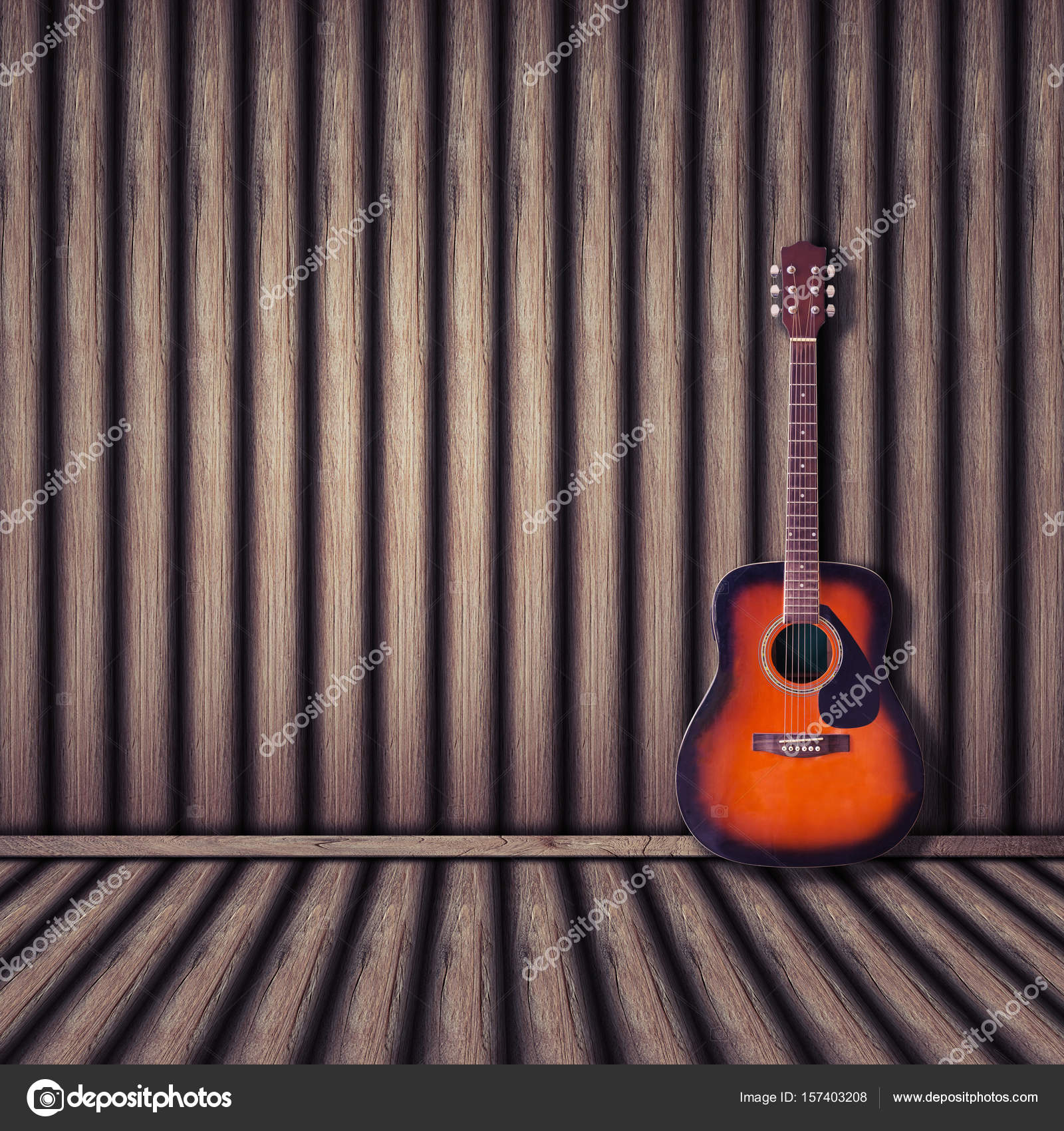 fond bois de guitare acoustique style vintage photographie releon8211 157403208. Black Bedroom Furniture Sets. Home Design Ideas