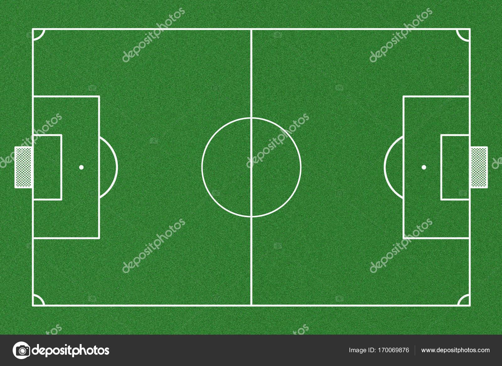 Vista superior del campo de fútbol — Foto de Stock ba5de20cb60c0