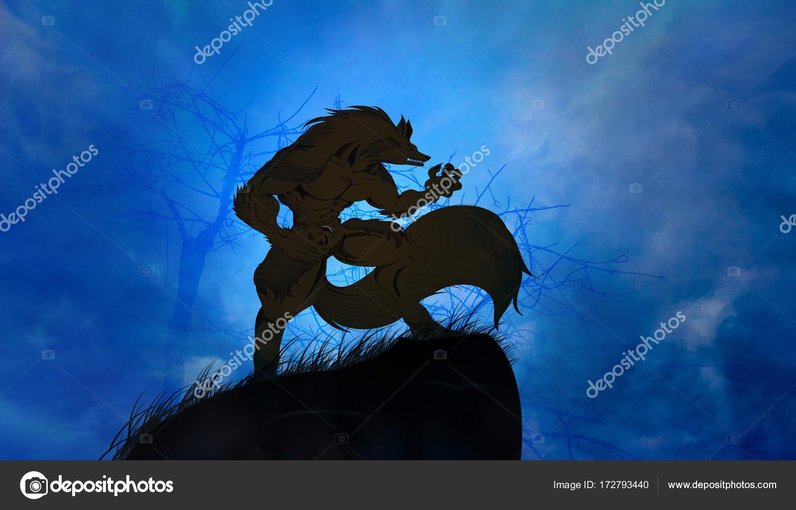 Fotos Hombre Lobo Aullando A La Luna Hombre Lobo Aullando A La