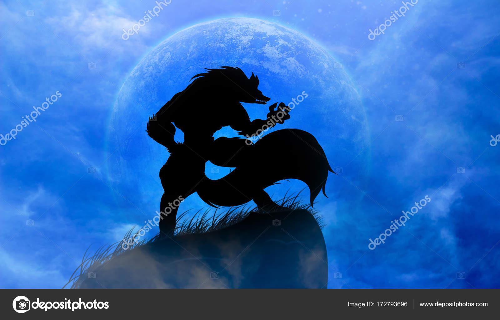 Imágenes Hombres Lobos Aullando A La Luna Hombre Lobo Aullando A
