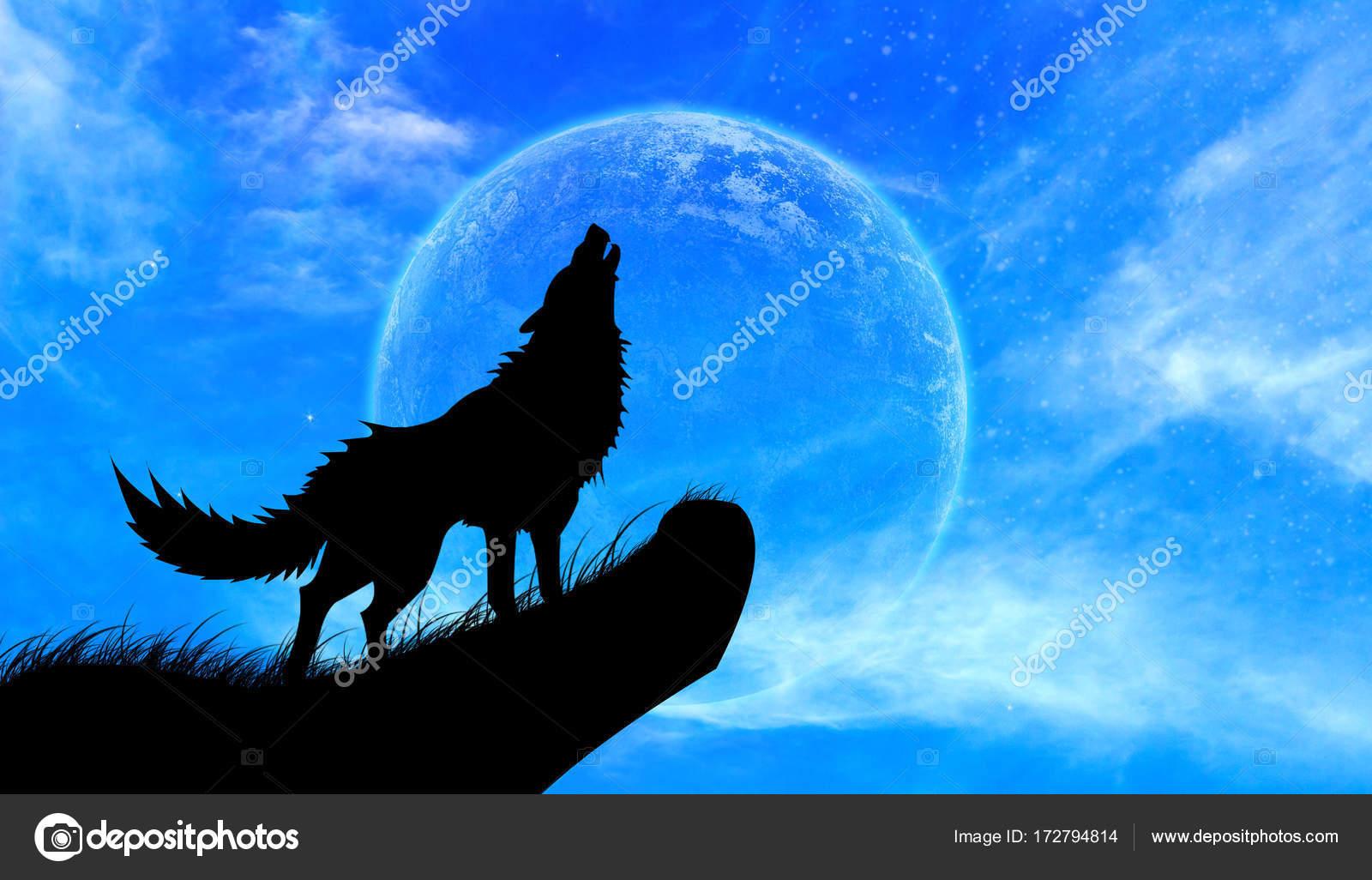 Fotos Lobos En Luna Llena Aullido De Lobos Luna Llena Foto De