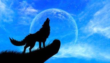 Wolves howl Full Moon