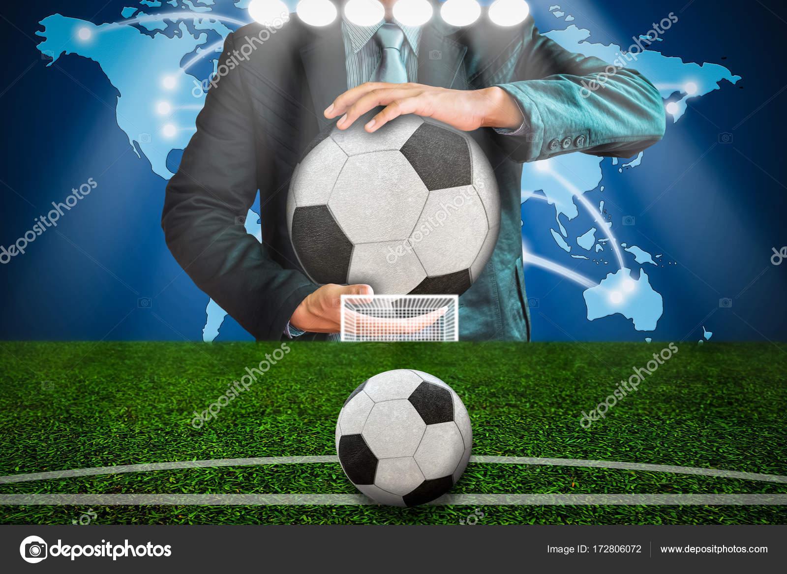 3e9184715 Planning soccer shooting ball — Stock Photo © releon8211 #172806072