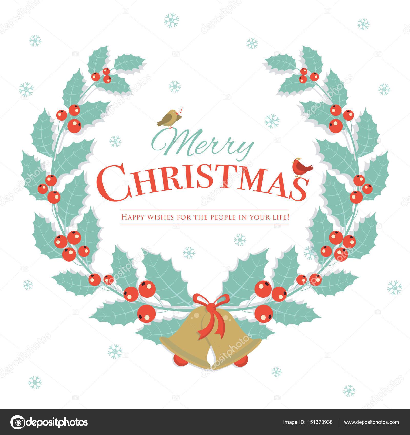 Frohe Weihnachten-Winter-Hintergrund-Design. Weihnachten ...