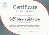 Photo Certificate of achievement template design. Business diploma lay